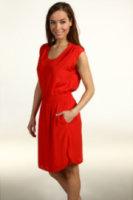 Eliza J Open Sleeve w/ Scoop Neck Smocked Waist Dress