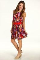 Eliza J Pleated Dress w/ Drop Waist