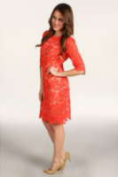 Eliza J Three Quarter Sleeve Lace Sheath Dress