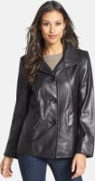 Ellen Tracy A-Line Leather Jacket X-Small