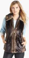 Ellen Tracy Faux Fur Anorak Vest (Regular & Petite) (Online Only) Medium P
