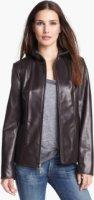 Ellen Tracy Leather Scuba Jacket (Regular & Petite) Small P