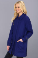 Ellen Tracy Stadium Coat w/Patch Pockets