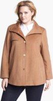 Ellen Tracy Wing Collar A-Line Wool Blend Coat (Plus Size) 24W