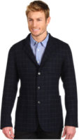 Faconnable Double Face Windowpane Wool Jacket