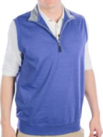 Fairway And Greene LUXURY INTERLOCK 1/4 ZIP VEST W/ CONTRAST COLLAR