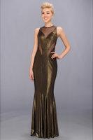 Faviana Mesh Detail Gown 7182