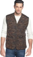 Field and Stream Camo Fleece-Lined Quilted Reversible Vest