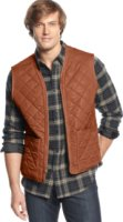 Field and Stream Fleece-Lined Quilted Reversible Vest