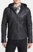 Field Scout Hooded Leather Jacket Large