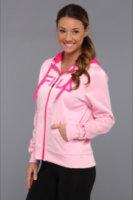 Fila Fight Against Breast Cancer Plaited Fleece Full Zip Hoody