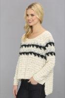Free People Fuzzy Fairisle Pullover