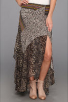 Free People North Country Printed Skirt