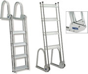 Garelick Anodized Aluminum Flip-Up Dock Ladder