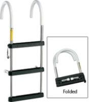 Garelick Telescoping Stainless-Steel Hook Ladders