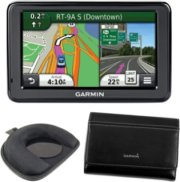 Garmin GPS Bundle with Maps Traffic Mount and Case - 5 Inch