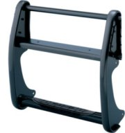 Go Rhino StepGuard Grille Guard Only - Black