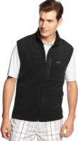 Greg Norman Zip-Front Stand Collar Fleece Vest