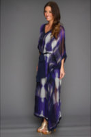 Halston Heritage Three-Quarter Sleeve Caftan Dress