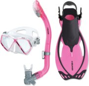 Head Pirate Mask Snorkel and Fins Set
