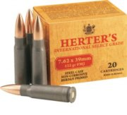 Herter's 7.62 X 39 122 Gr. Fmj Rifle Ammunition With Dry-Storage Box