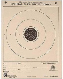 """Hoppe's 100 Yard Small Bore Official Competition Shooting Target Single Bull 14x14"""" Pack of Twenty"""