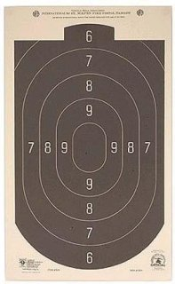 "Hoppe's 50'. Rapid Fire Silhouette Official Competition Pistol Target 12x20"" Pack of Twenty"