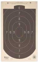 Hoppe's 50'. Rapid Fire Silhouette Official Competition Pistol Target 12x20  Pack of Twenty
