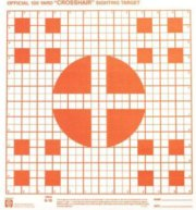 Hoppe's Red Fluorescent 100 Yard  Crosshair  Sighting in Targets 1  Squares with 5 Tragets per Sheet Pack of Twenty