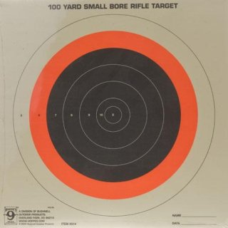 "Hoppe's Red Fluorescent 100 Yard ""Small Bore"" Sighting in Targets Single Bull Pack of Twenty"