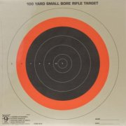 Hoppe's Red Fluorescent 100 Yard  Small Bore  Sighting in Targets Single Bull Pack of Twenty