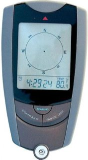 Humvee Gear Gear Multi-Function Handheld Digital Compass with Thermometer & Clock