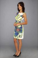 Ivy & Blu Maggy Boutique Cactus Flower Multi Sleeveless Dress