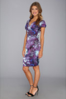 Ivy & Blu Maggy Boutique Print Dress w/ Rouced Detail