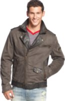 J.a.c.h.s Canvas and Leather Moto Jacket