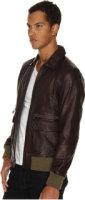 Jack Spade Morton Leather Bomber Jacket