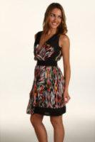 Jax Pleated Surplus Printed Dress