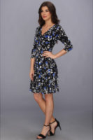 Jessica Howard 3/4 Sleeve Empire Waist Fit Flare Dress