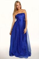Jessica Simpson Crisscross Bodice Strapless Gown