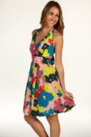 Jessica Simpson Floral Tie Back Halter Dress