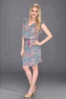 Jessica Simpson Flutter Sleeve Dress with Shirttail Hem