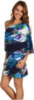 Jessica Simpson One-Shoulder Printed Mini Dress