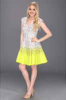 Jessica Simpson Print Ombre Fit and Flare Dress