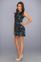 Jessica Simpson Sleeveless Dropped Flounce Skirt Dress w/ Style Lines
