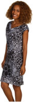 Jones New York Printed Drape Neck Dress