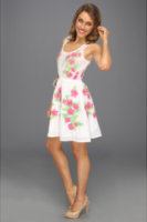 Juicy Couture Embroidered Silk Blend Cotton Voile Dress