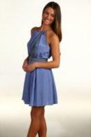 Juicy Couture Gem Geo Print Halter Dress