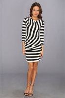 Juicy Couture Jersey Stripe 3/4 Sleeve Dress