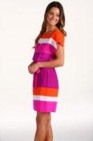 Julie Dillon Dolman Sleeve Colorblock Dress
