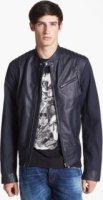 Just Cavalli Mixed Media Leather Moto Jacket 50
